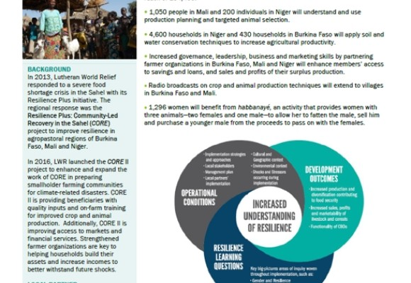 Resilience +: Community-Led Crisis Recovery in the Sahel II (CORE II)