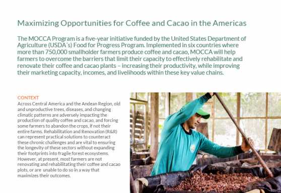 Maximizing Opportunities for Coffee & Cacao in the Americas (MOCCA)