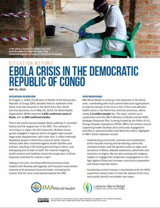 Ebola Crisis in the Democratic Republic of Congo
