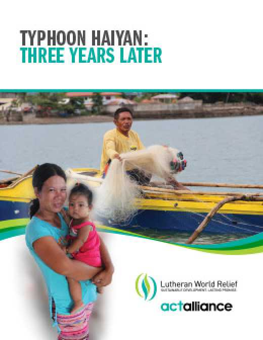 Typhoon Haiyan Emergency Response Program: Final Progress Report