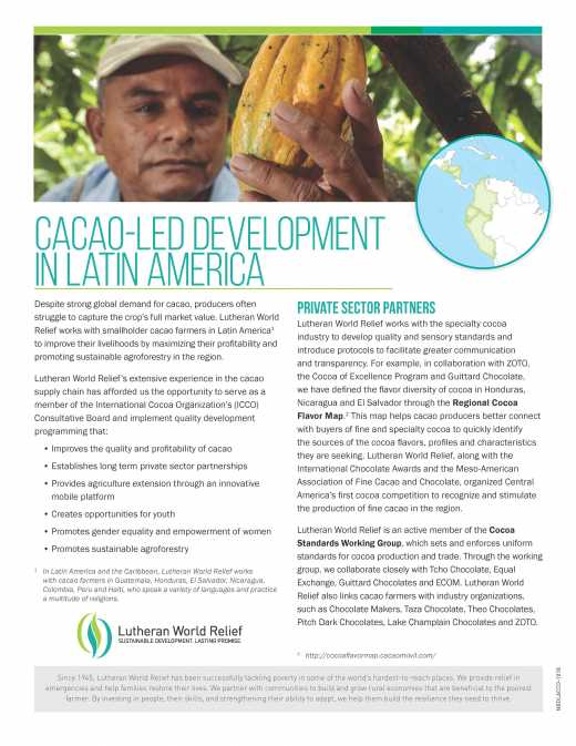 Cacao-Led Development in Latin America