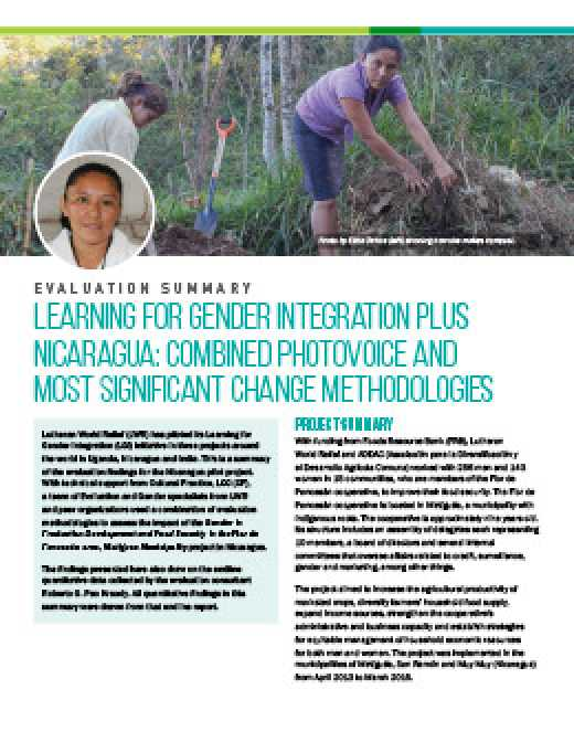 Learning for Gender Integration Project in Nicaragua